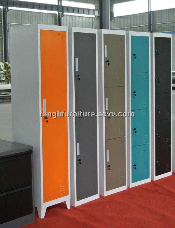 Single door steel locker with legs