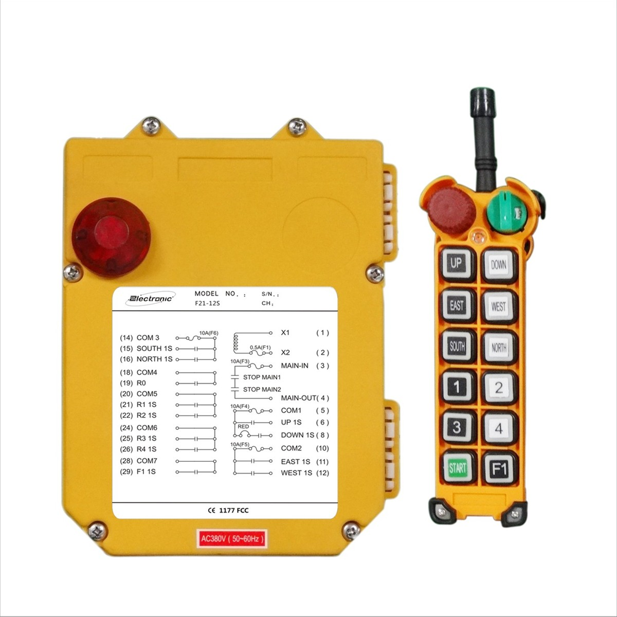 Overhead Crane Remote Control : F s single speed wireless industrial radio crane