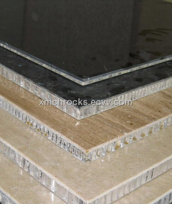 Aluminum honeycomb stone composite panel laminated