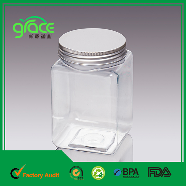 LG-13 Square Wide Mouth Jar with Aluminum Cap