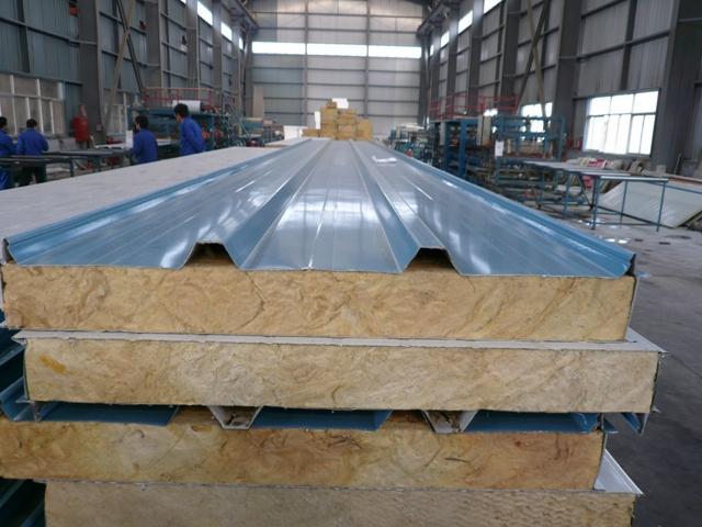 Fireproof rockwool insulation sandwich panel rockwool roof for Fireproof rockwool