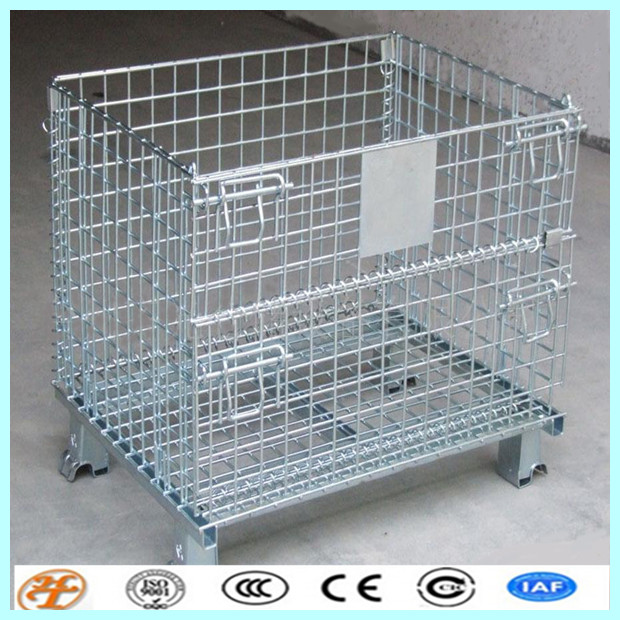 Factory Collapsible Wire Mesh Storage Container