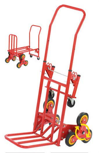 eight wheels hand trolley for climbing stairs trolley