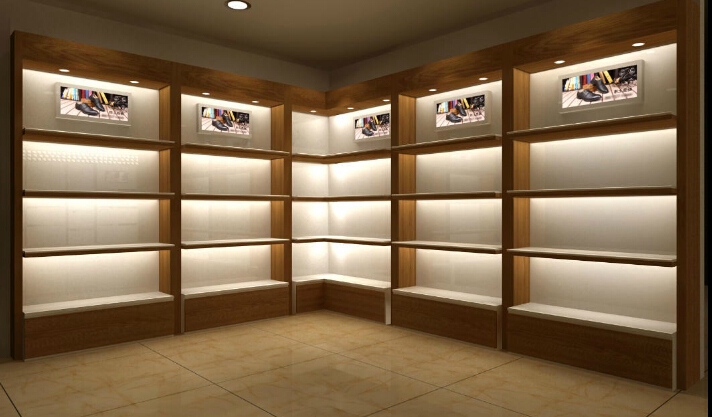 Wooden Exhibition Stand : Bag display garment showcase racks wooden material