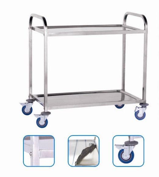 two layers platform trolley,hotel service cart,dining cart