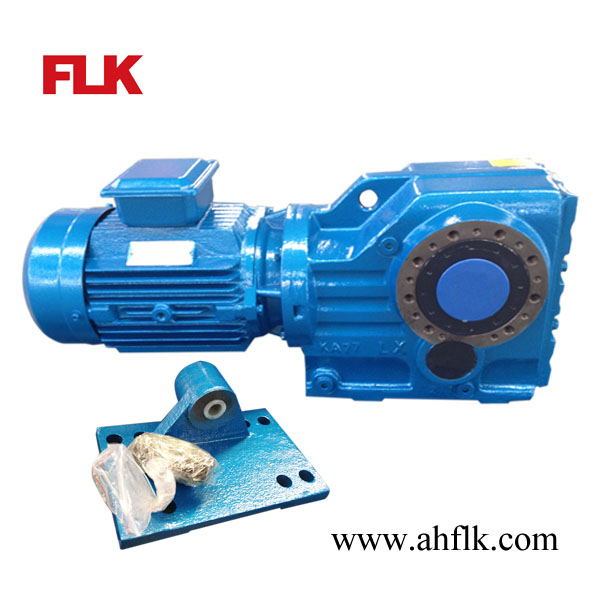 Kat helical bevel gear reducer gearbox with hollow shaft for Hollow shaft gear motor