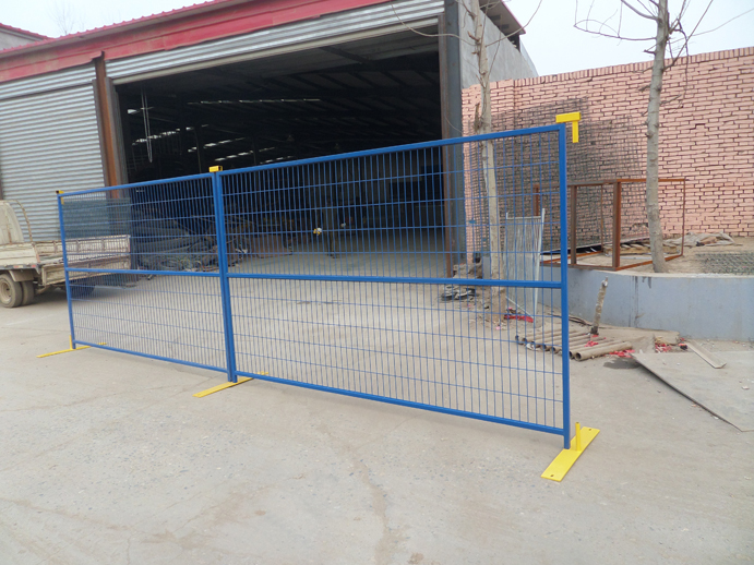 Portable Steel Fencing : Portable visible steel temporary fence panels for
