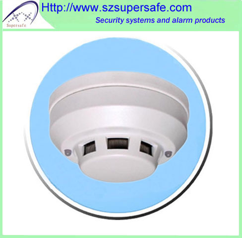 4 wires Wired Network Home Security Photoelectric Smoke /Fire Detector