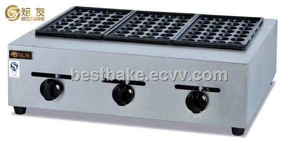 Gas 3-Pallet Fish Pellet Grill /Takoyaki Machine BY-GH768 Snack Equipment