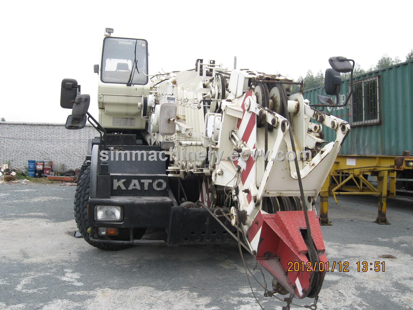 Kato 70t Rough Terrain Crane Load Chart : Japan made kato kr t rough crane purchasing souring
