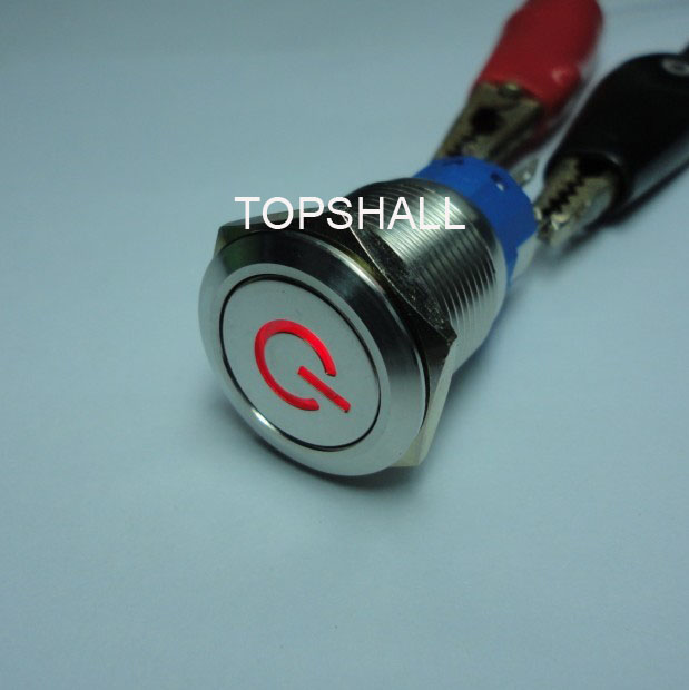 Resetself Lockoff Onoff On Metal Push Button Switch With Power