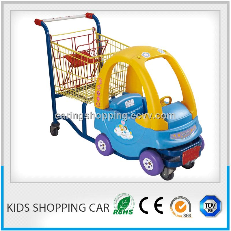 kids shopping trolley with a toy car
