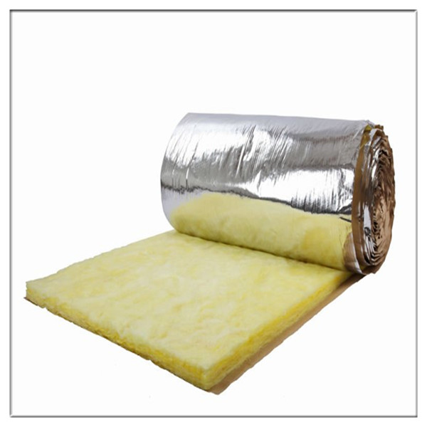 Heat insulation building material glass wool blanket for Glass fiber blanket insulation
