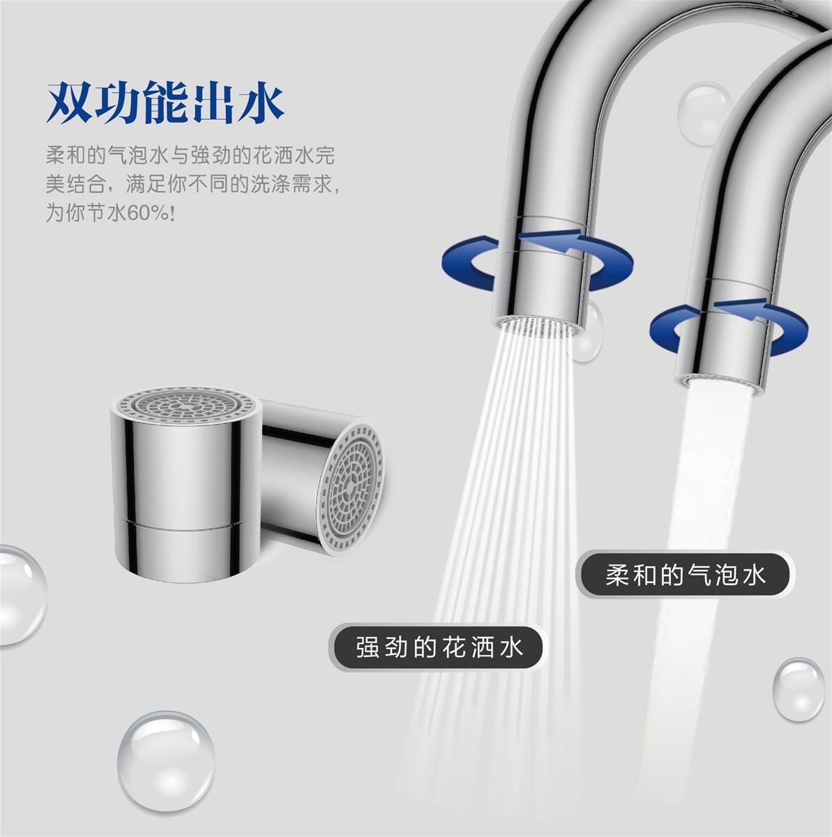 Dual-function Water saving faucet aerator/faucet tap