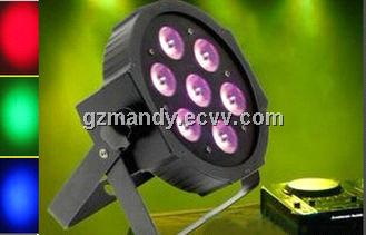 High Brightness 4 in 1 RGBW LED Plastic Par Lights 10W * 7 Bulbs For Stage Show(MD-C010)