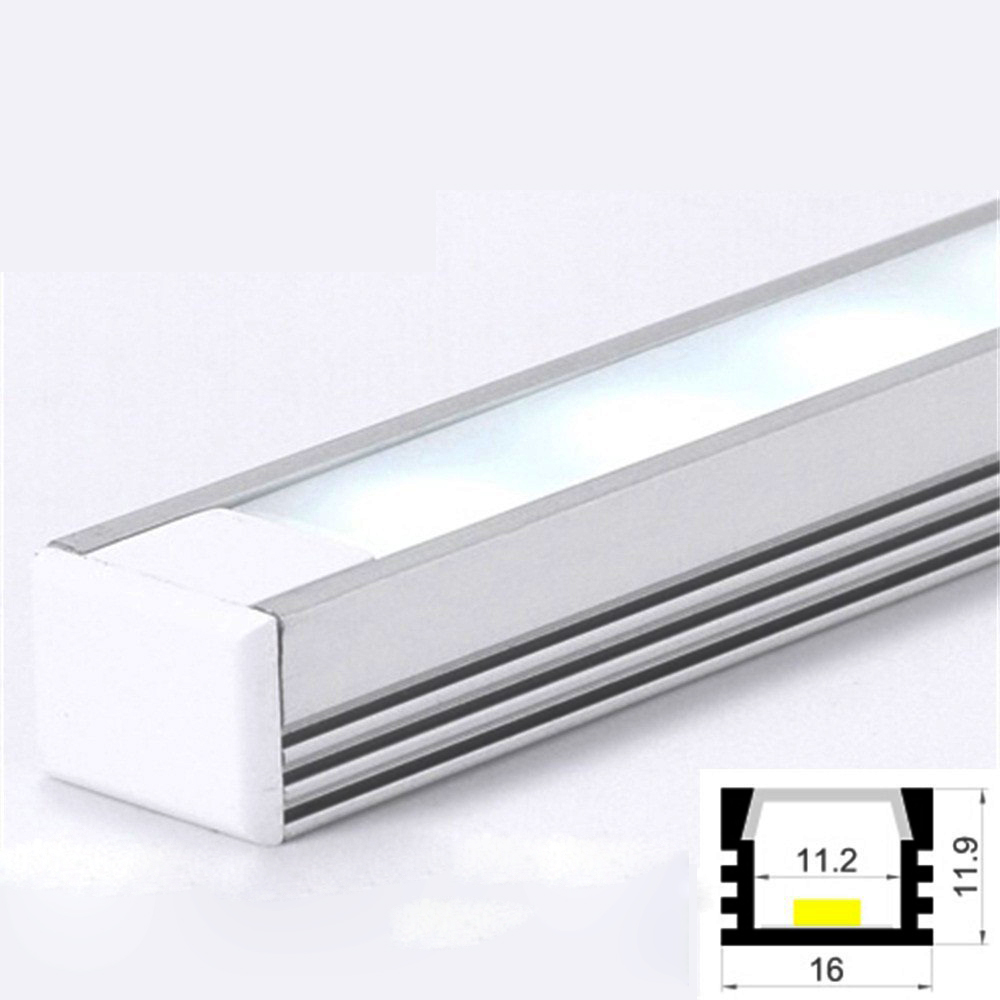 led aluminum profile cabinet strip light with diffuser. Black Bedroom Furniture Sets. Home Design Ideas