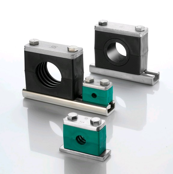 Hydraulic pipe clamp according to german standard din