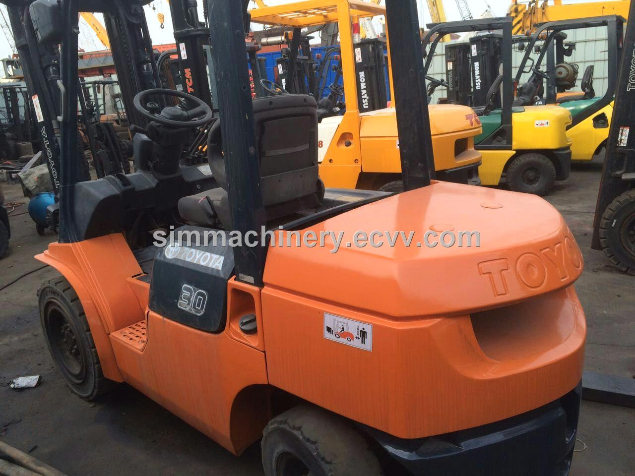 Used toyota 3t forklift with diesel engine second hand for Forklift motor for sale