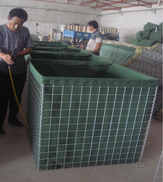 high quality anping Sand Filled Hesco Barrier Military Welded Perimeter Security Hesco Barrier