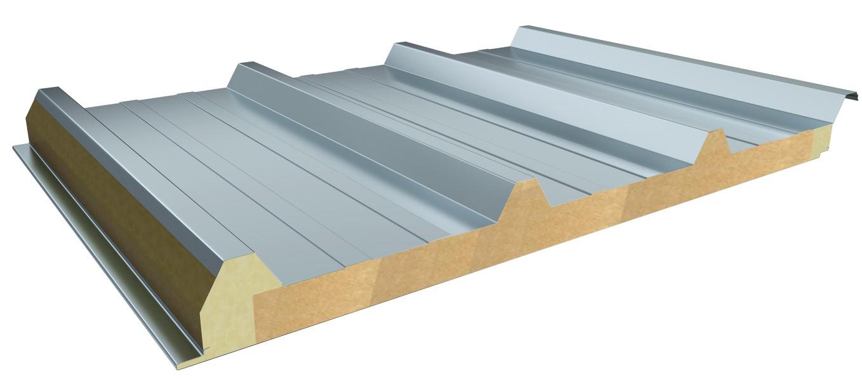 Sandwich Panels Types : Rock wool sandwich panel color steel mineral