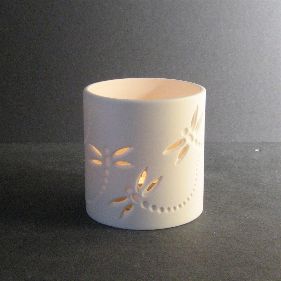 dragonfly ceramic candle holders tea light holders (cd  - dragonfly ceramic candle holders tea light holders