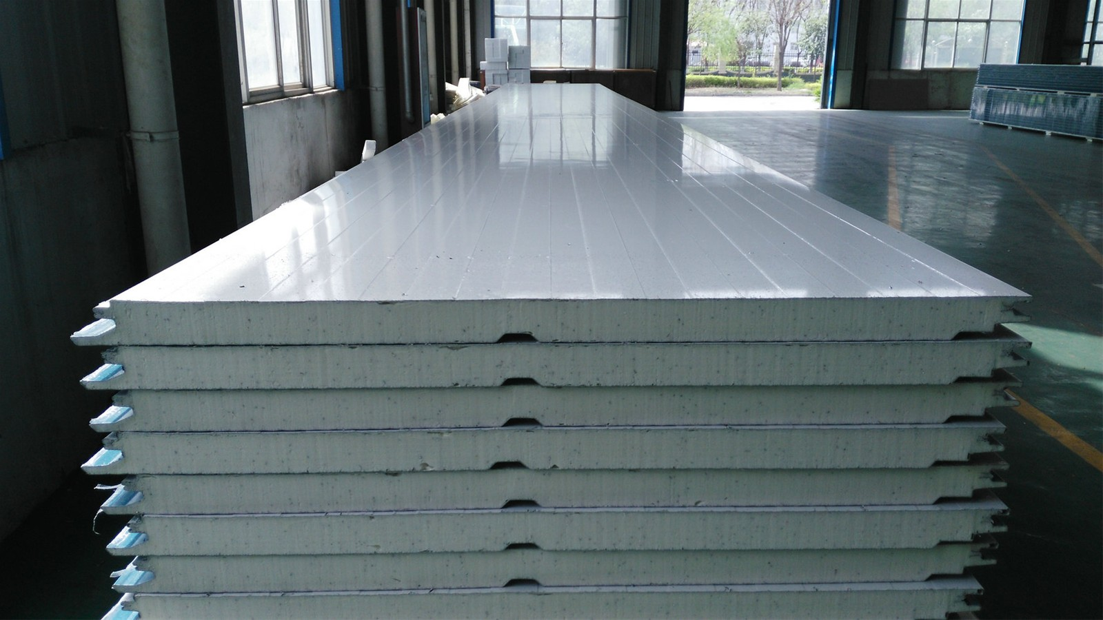 Sandwich Panels Types : Mm metal roof wall steel aluminum sandwich