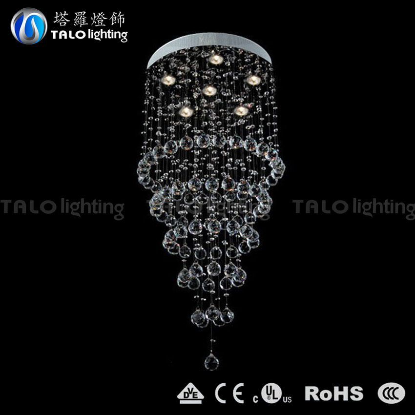 modern luxury crystal chandeliers LED pendant lamp for living room decoration
