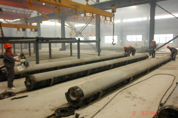 Conduit In Concrete Pole : Concrete pole making machine for electric transmission