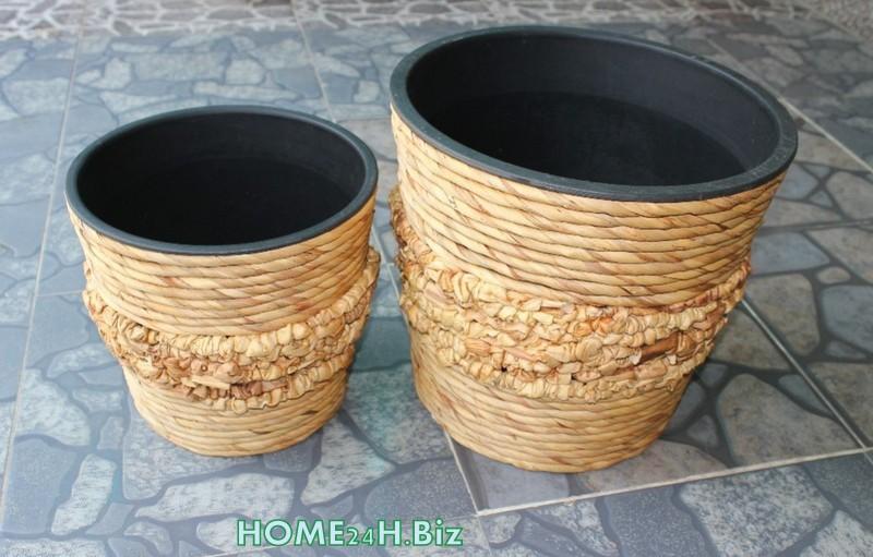 Vietnam crafts plant pots hyacinth home24h hyacinth plant pot woven crafts home24h biz - Planting hyacinths pots ...