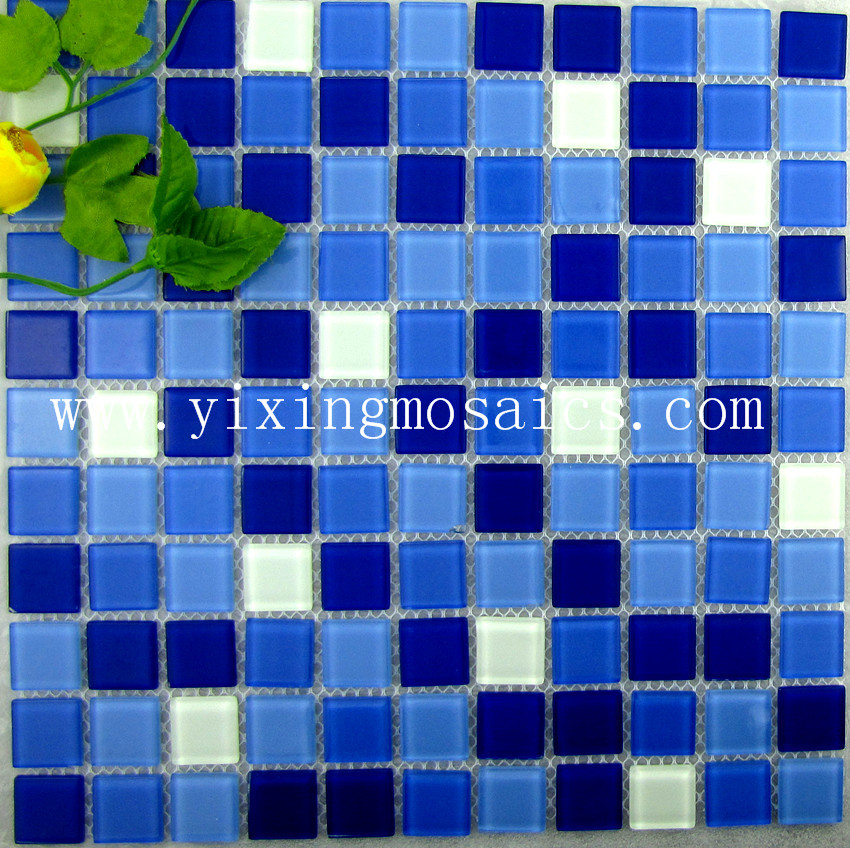Swimming Pool Crystal Glass Mosaic Tiles China Mosaic Tile