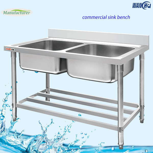 Restaurant Kitchen Sink/Stainless Steel Double Bowl Sink Table - China ...