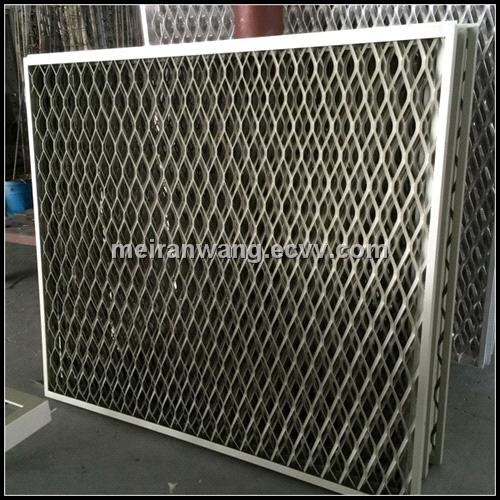 Expanded Metal Panels : Hot sale decorative expanded metal mesh external