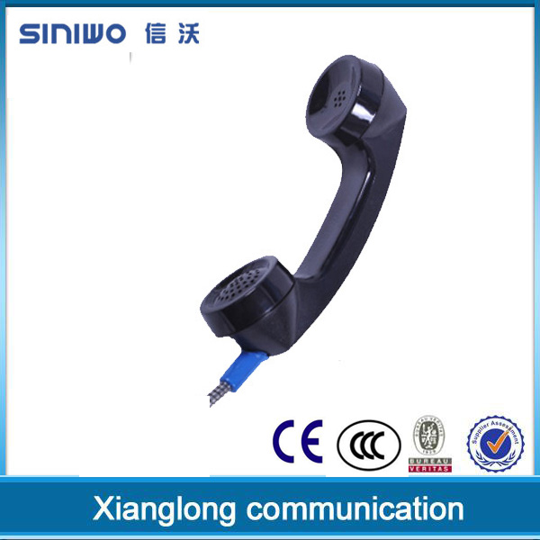 Black cute classical landline corded telephone with imcoming call flash handset A01