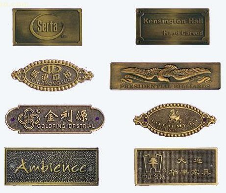 Metal Funiture Nameplate Metal Plates Brand Logos Engraved Metal Labels For Furniture