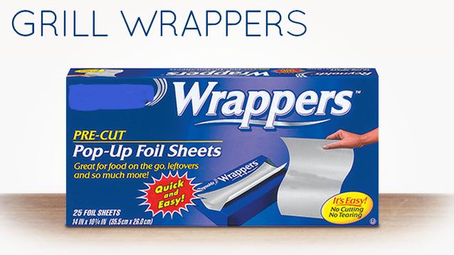 Grill wrapper Aluminum foil pop up sheet  500 pcs