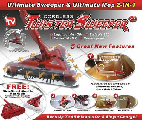 Cordless Twister Sweeper with Mop
