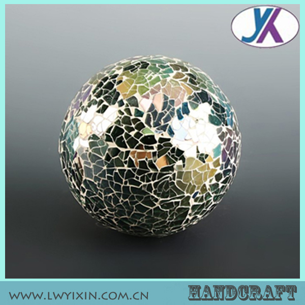 High quality decorative colored glass mosaic ball