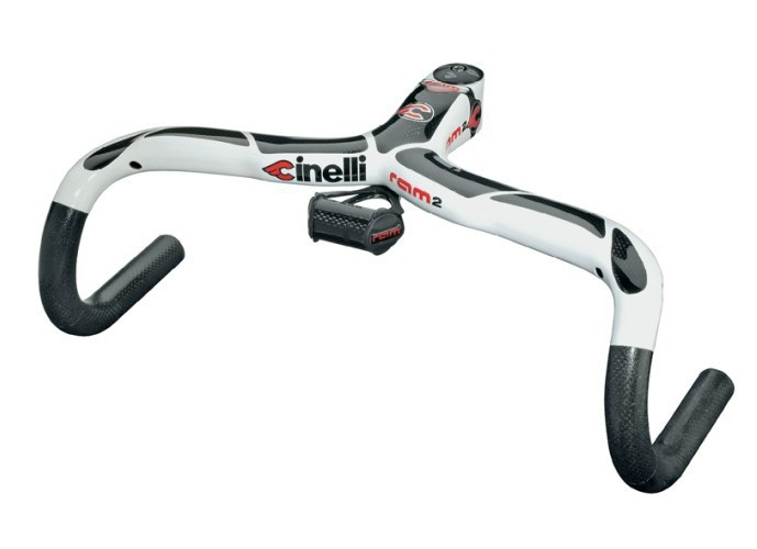 Cinelli Ram 2 Full Carbon Fiber Road Bicycle Handlebar With Stem and Carbon Speedometer Stents