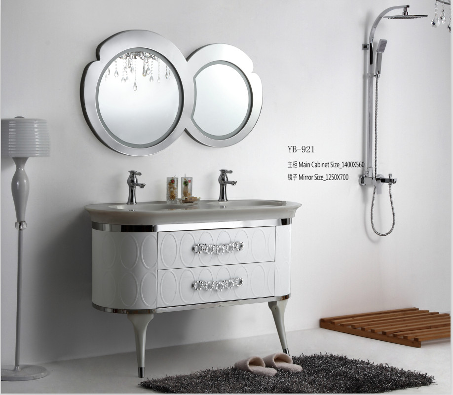 North america style modern stainless steel bathroom vanity for Bathroom vanity display for sale