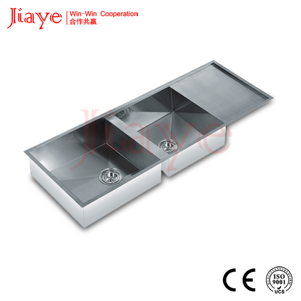 Kitchen stainless sink/Double bowl handmade sink JY-1165L1