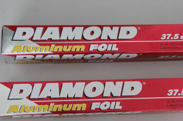 Silver diamond brand roll type aluminium foil