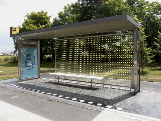 Bus shelter with stainless steel hs bs purchasing