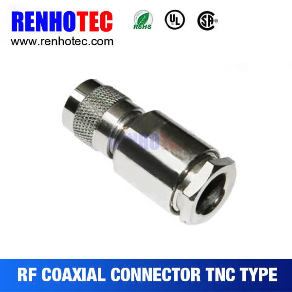 Crimp tnc connector electrical male plug for
