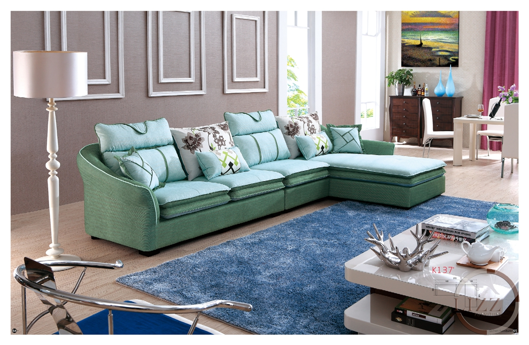 Fashion american style living room furniture fabric sofa for American living style furniture