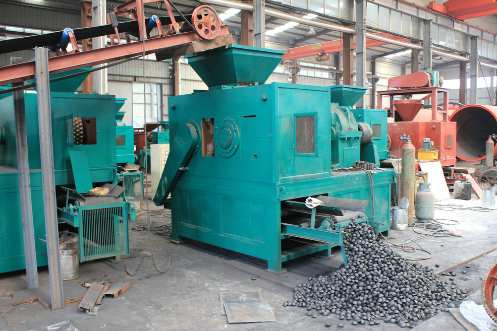 Coal charcoal and sawdust briquette press machine