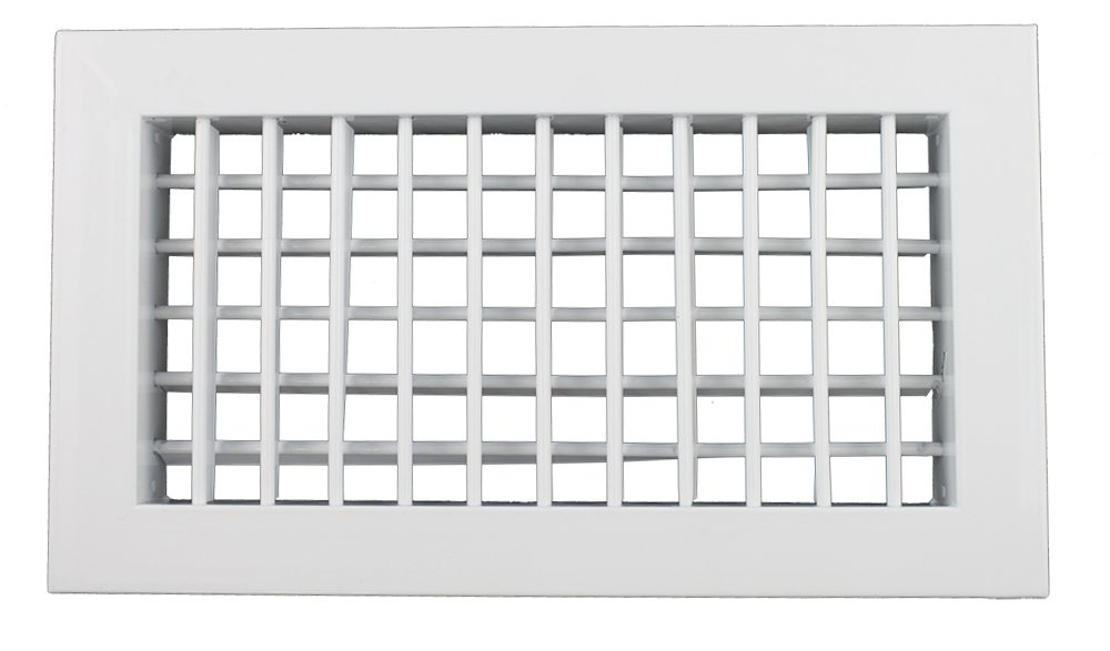 Double Deflection Grille With Damper : Aluminum double deflection air grille for hvac systems