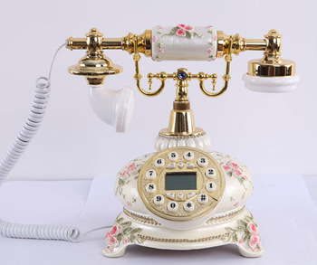 MYS competitive price elegant resin antique telephone MS-5700A