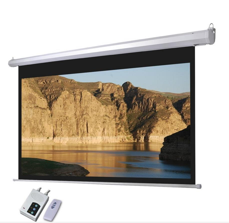 Home movie theater remote control projector screen for Motorized home theater screen