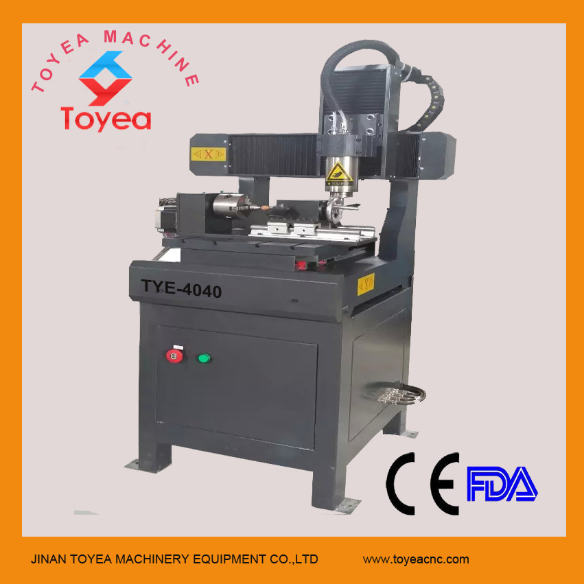 Jade CNC Engravng machine with water tank,rotary axs,Mach 3 control system TYE-4040