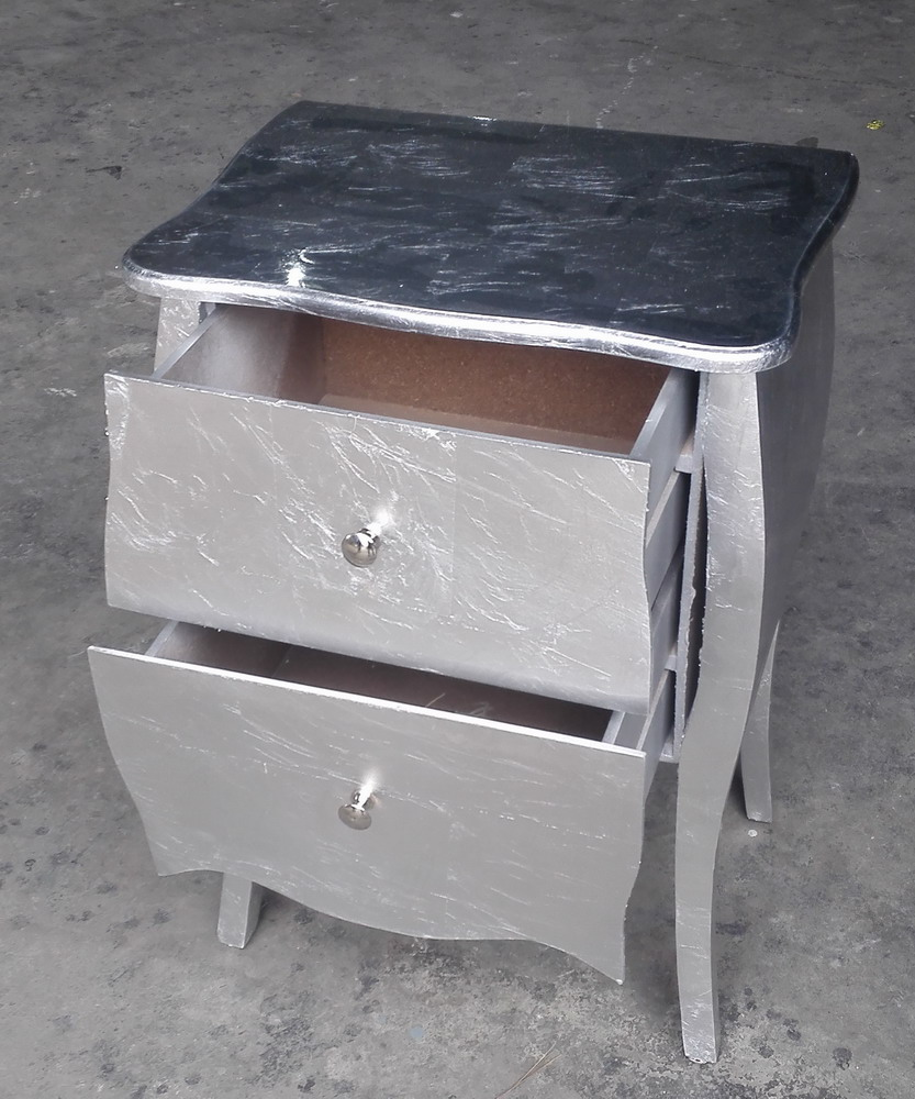 Wooden Silver+Golden Surface Cabinet for Living Room etc...